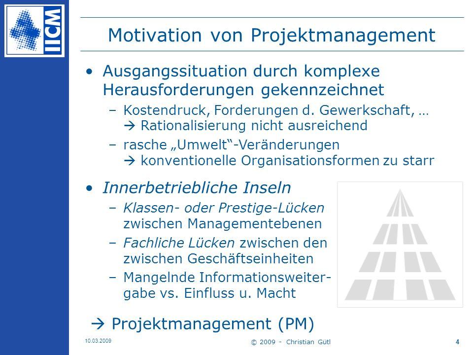 Motivation von Projektmanagement