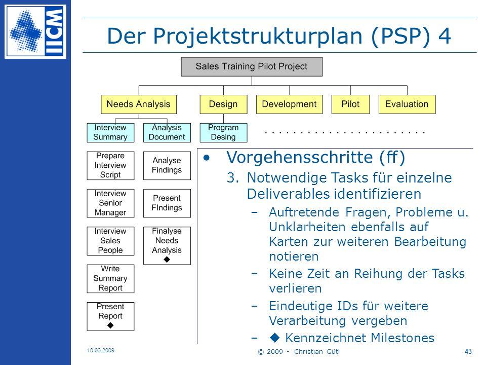 Der Projektstrukturplan (PSP) 4