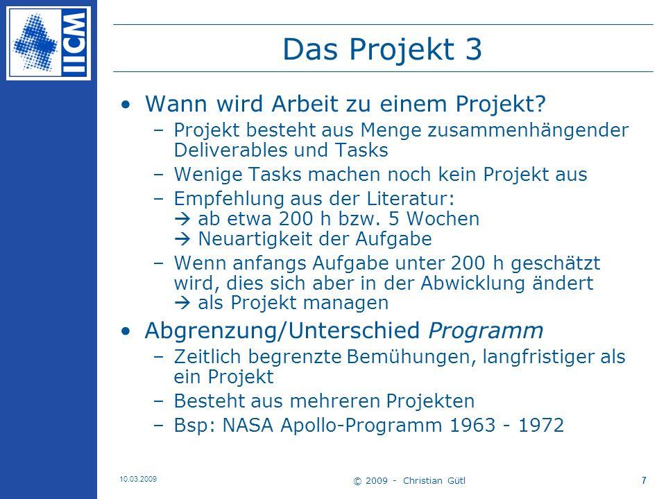 Das Projekt 3 Wann wird Arbeit zu einem Projekt