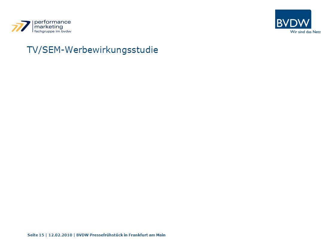 TV/SEM-Werbewirkungsstudie