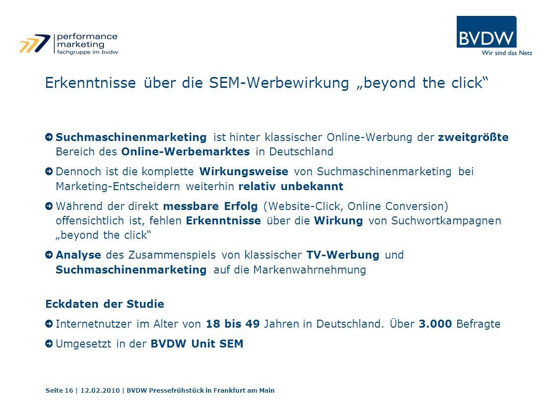 """Erkenntnisse über die SEM-Werbewirkung """"beyond the click"""