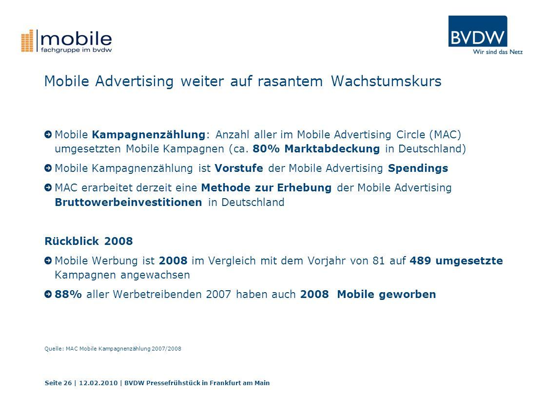 Mobile Advertising weiter auf rasantem Wachstumskurs