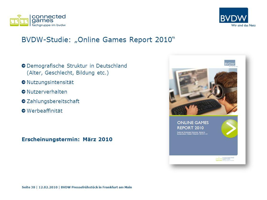 "BVDW-Studie: ""Online Games Report 2010"