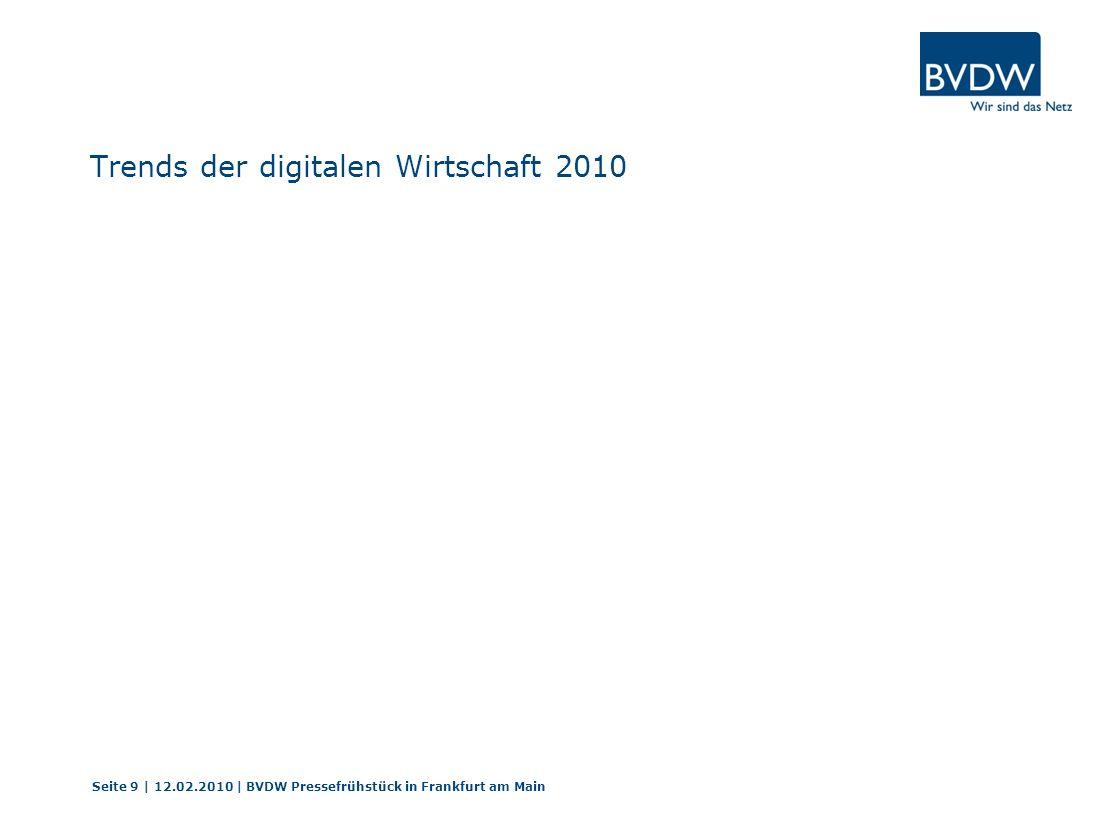 Trends der digitalen Wirtschaft 2010