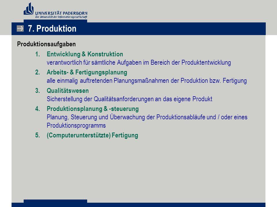 7. Produktion Produktionsaufgaben