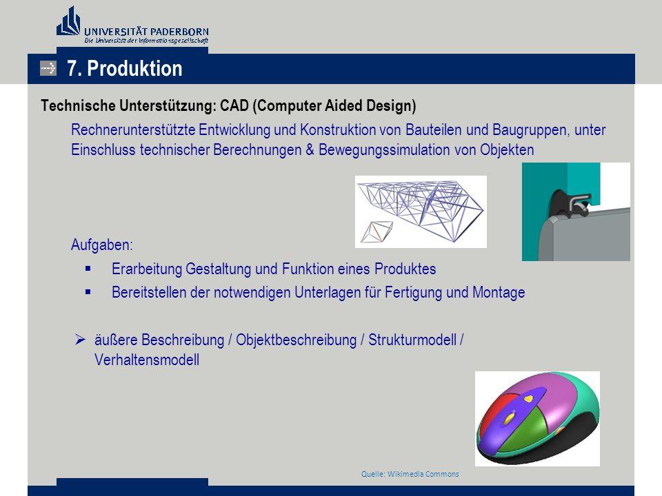 7. Produktion Technische Unterstützung: CAD (Computer Aided Design)