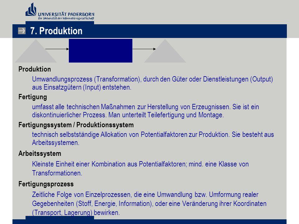 7. Produktion Produktion