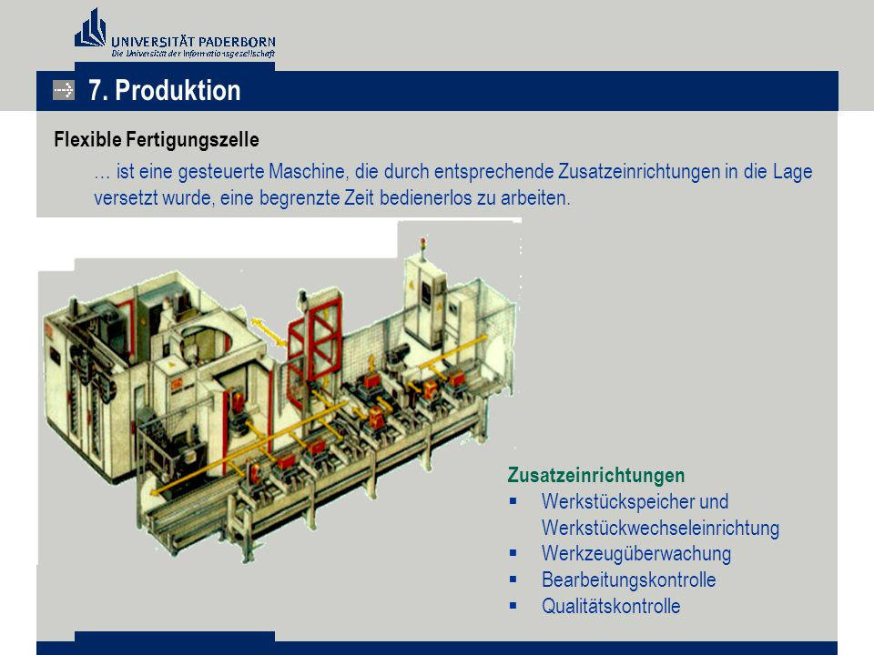7. Produktion Flexible Fertigungszelle