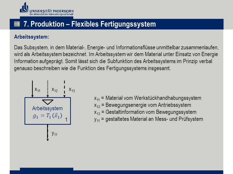 7. Produktion – Flexibles Fertigungssystem