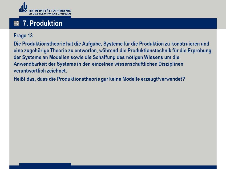 7. Produktion