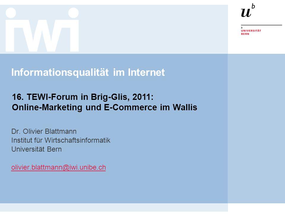 Informationsqualität im Internet