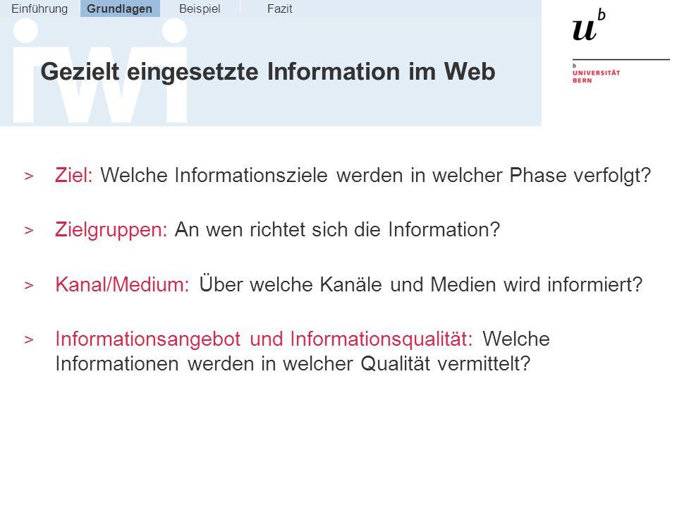 Gezielt eingesetzte Information im Web