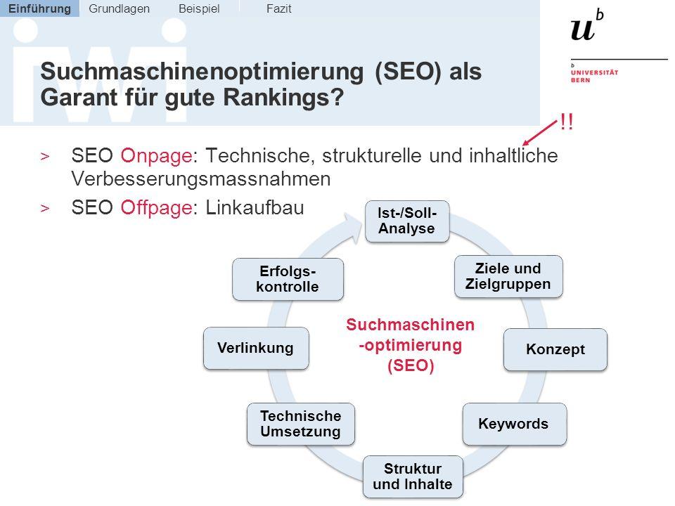 Suchmaschinenoptimierung (SEO) als Garant für gute Rankings