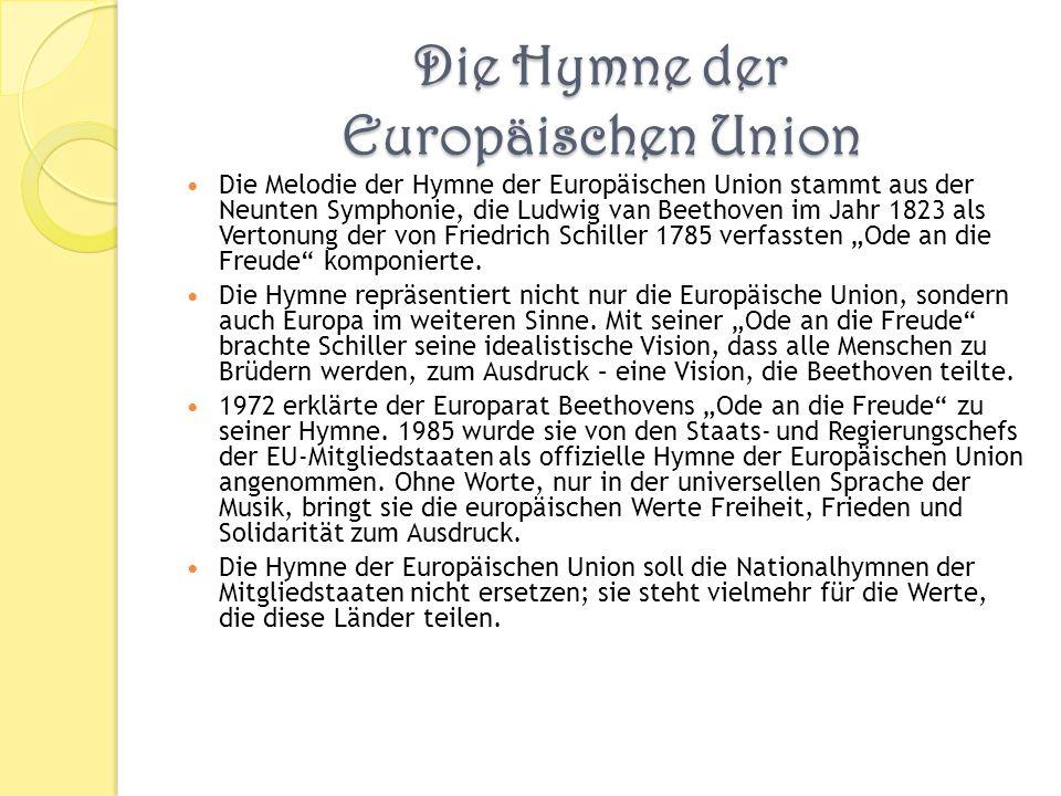 Die Hymne der Europäischen Union