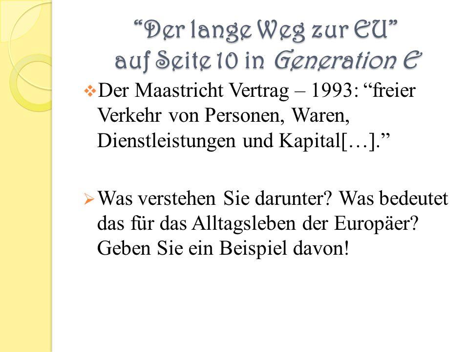 Der lange Weg zur EU auf Seite 10 in Generation E