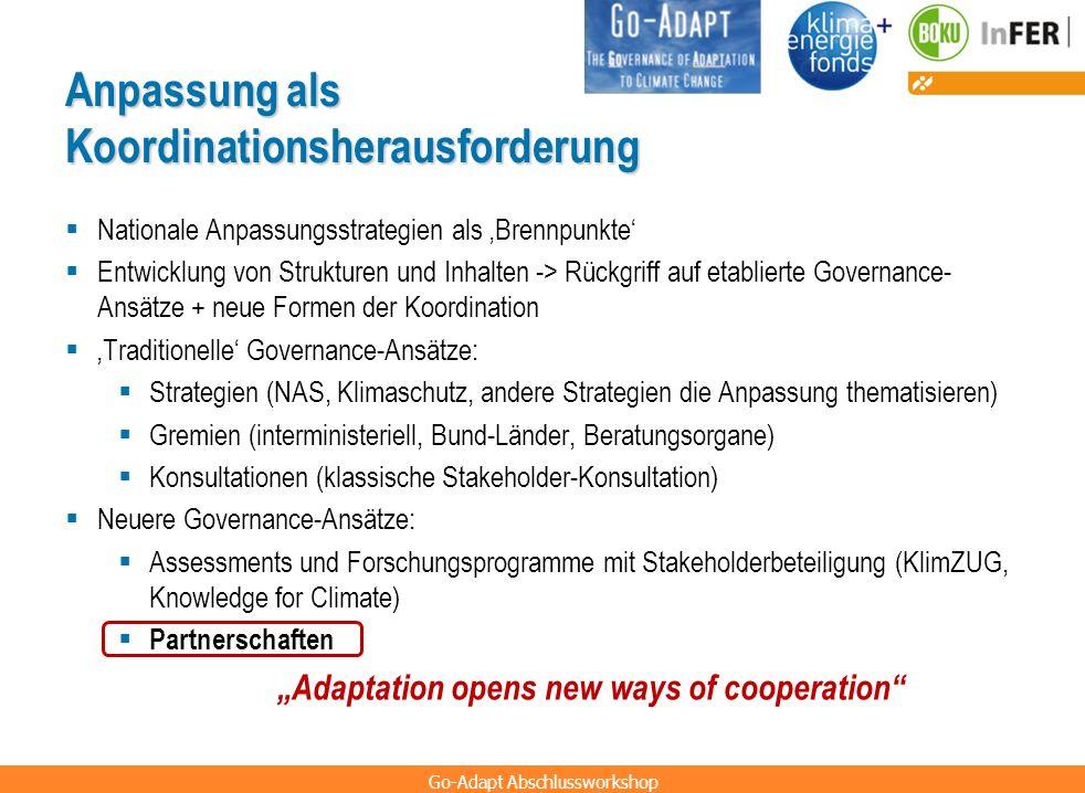 Anpassung als Koordinationsherausforderung