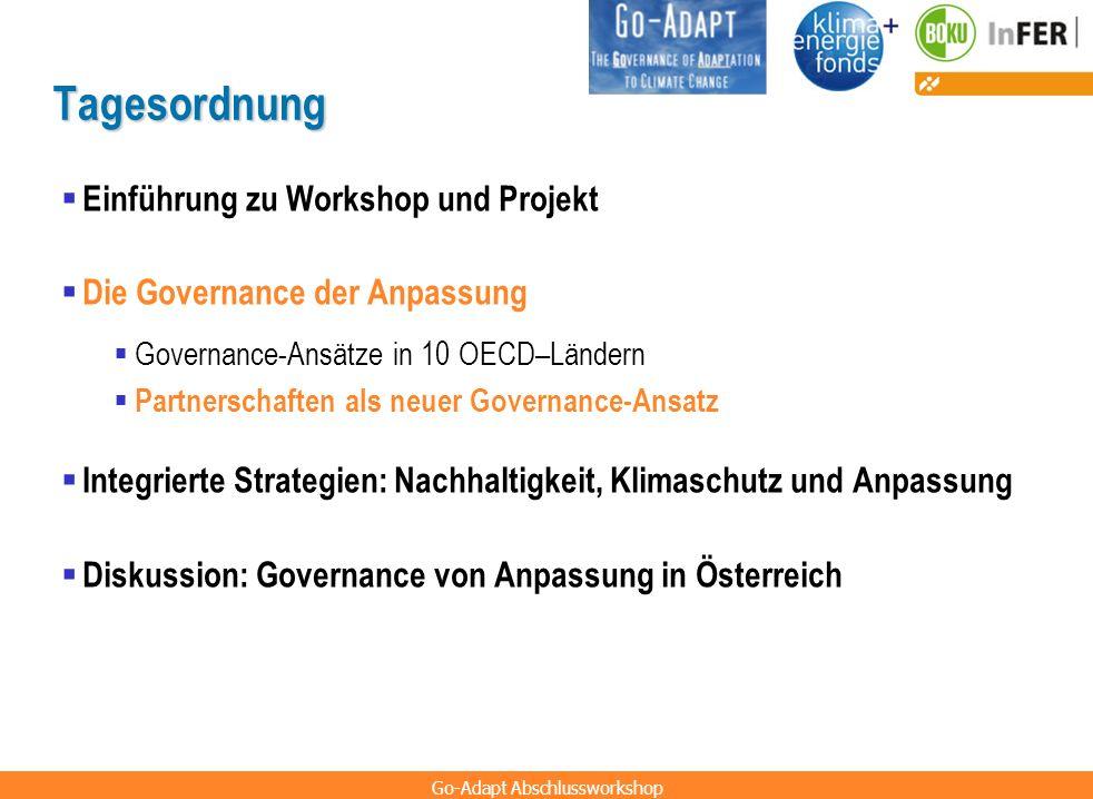Tagesordnung Einführung zu Workshop und Projekt