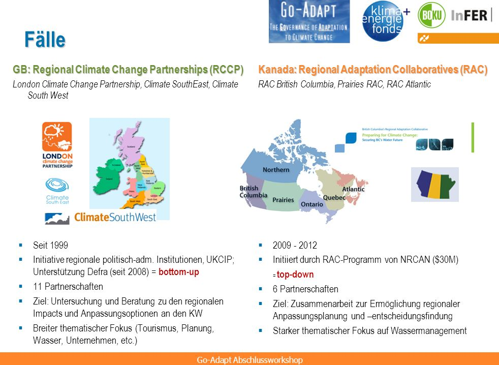 Fälle GB: Regional Climate Change Partnerships (RCCP)