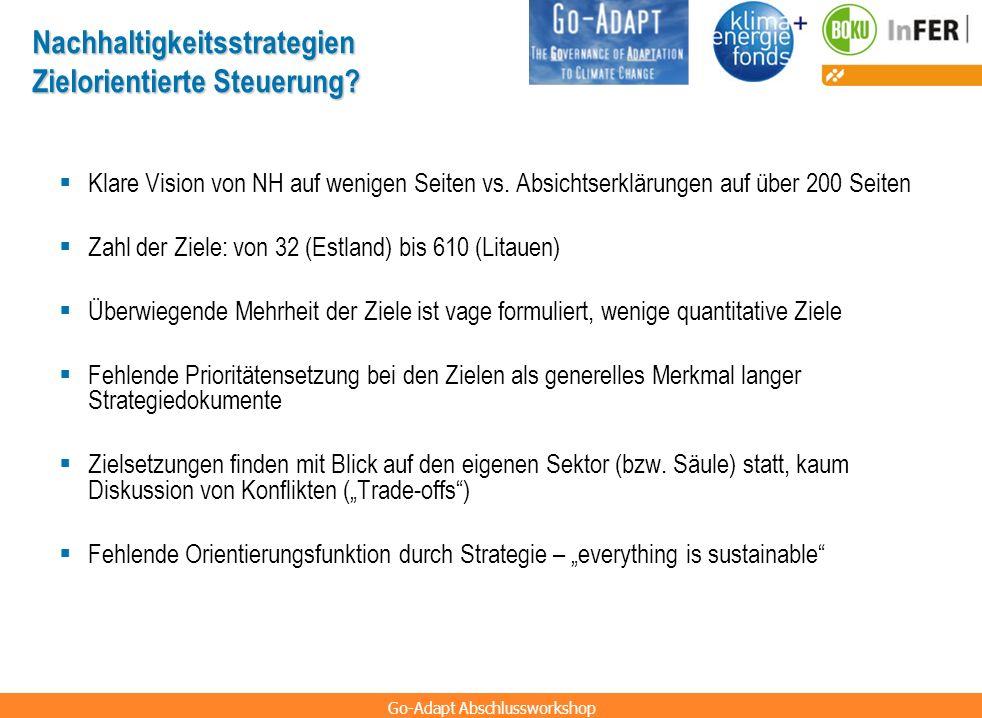 Nachhaltigkeitsstrategien Zielorientierte Steuerung