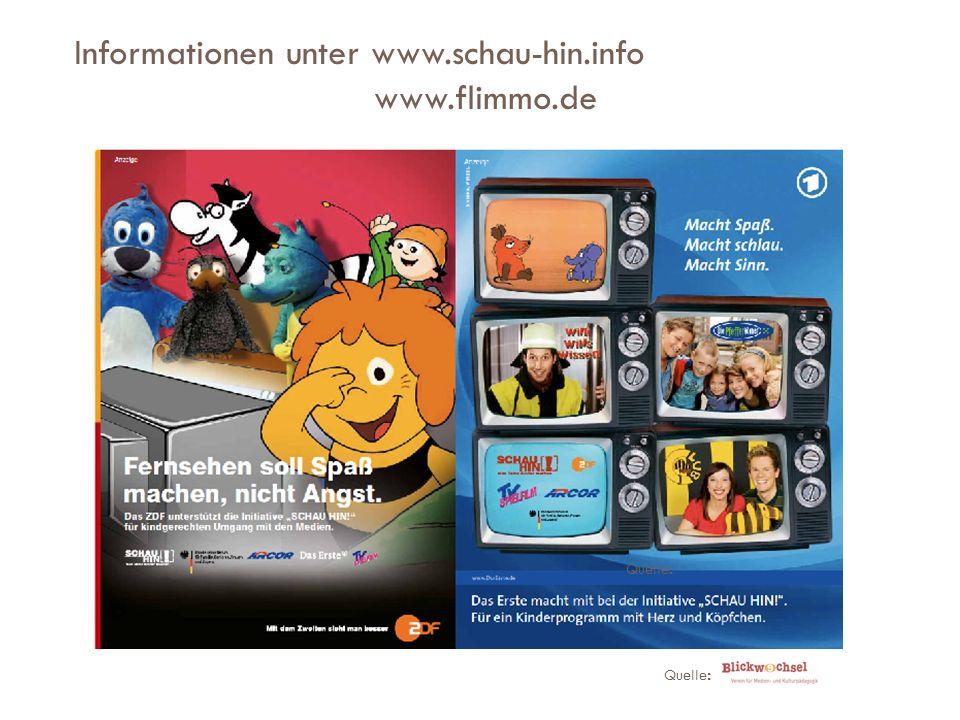 Informationen unter www.schau-hin.info www.flimmo.de