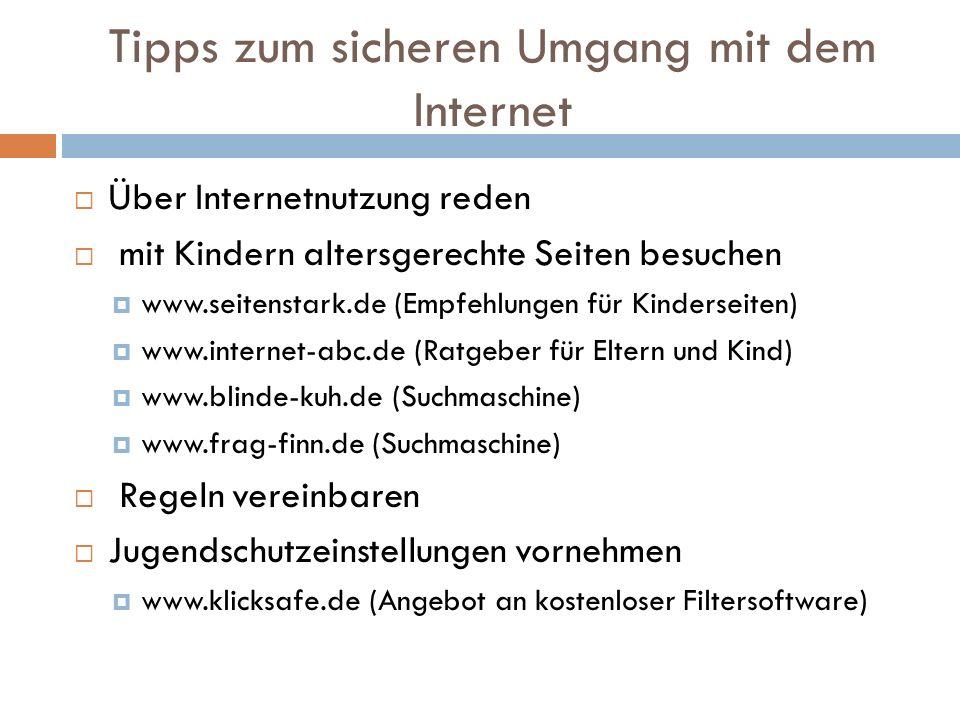 Tipps zum sicheren Umgang mit dem Internet