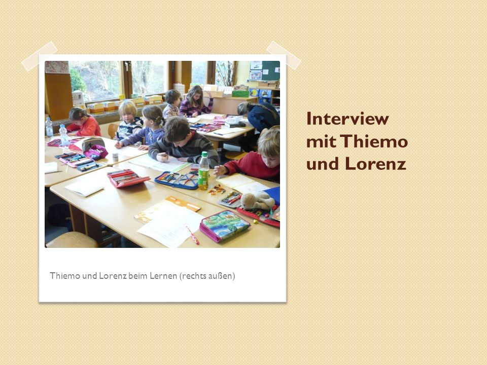 Interview mit Thiemo und Lorenz