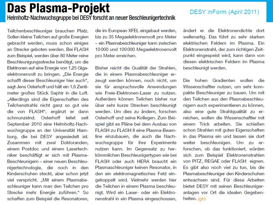 DESY inForm (April 2011)