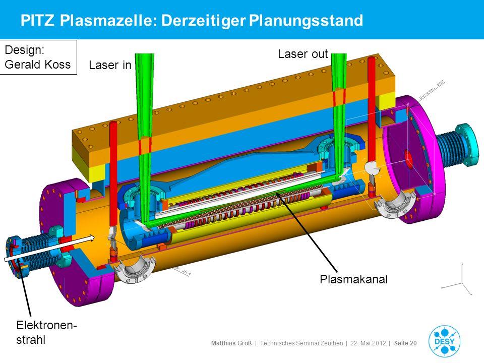 PITZ Plasmazelle: Derzeitiger Planungsstand
