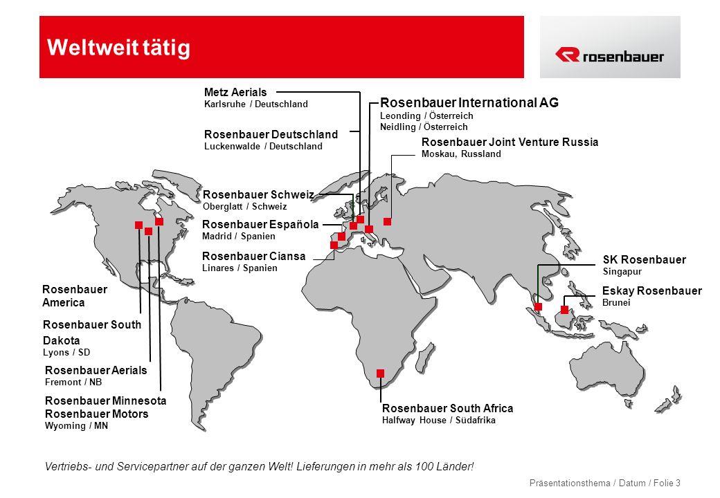 Weltweit tätig Rosenbauer International AG Metz Aerials
