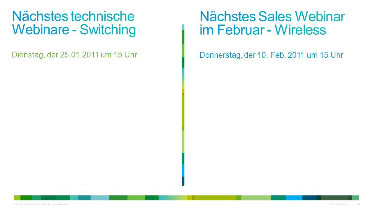 Nächstes technische Webinare - Switching