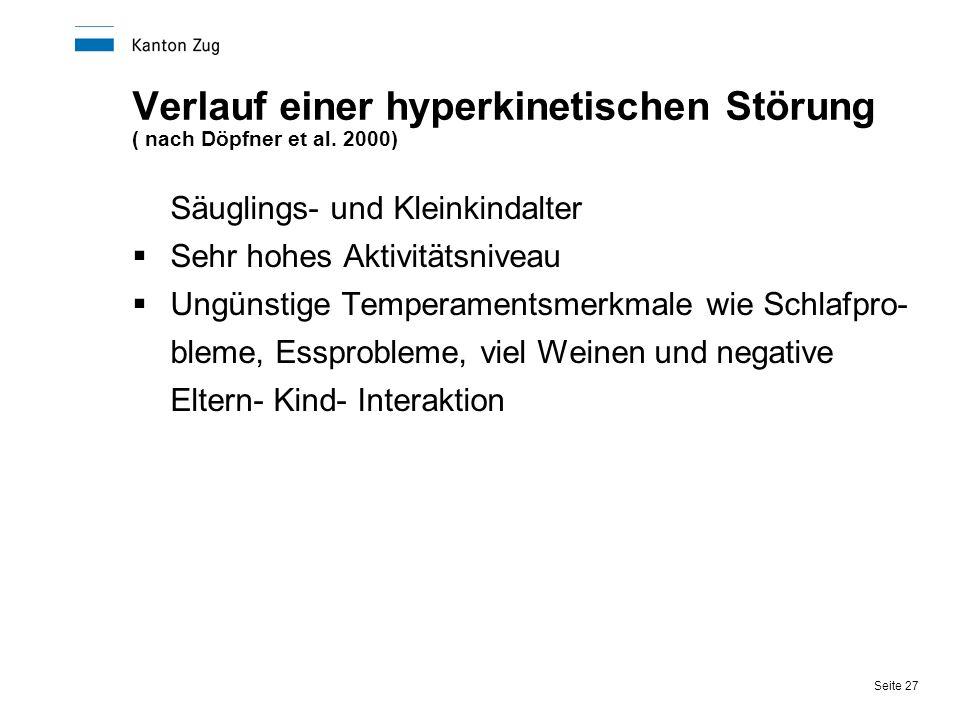 Verlauf einer hyperkinetischen Störung ( nach Döpfner et al. 2000)