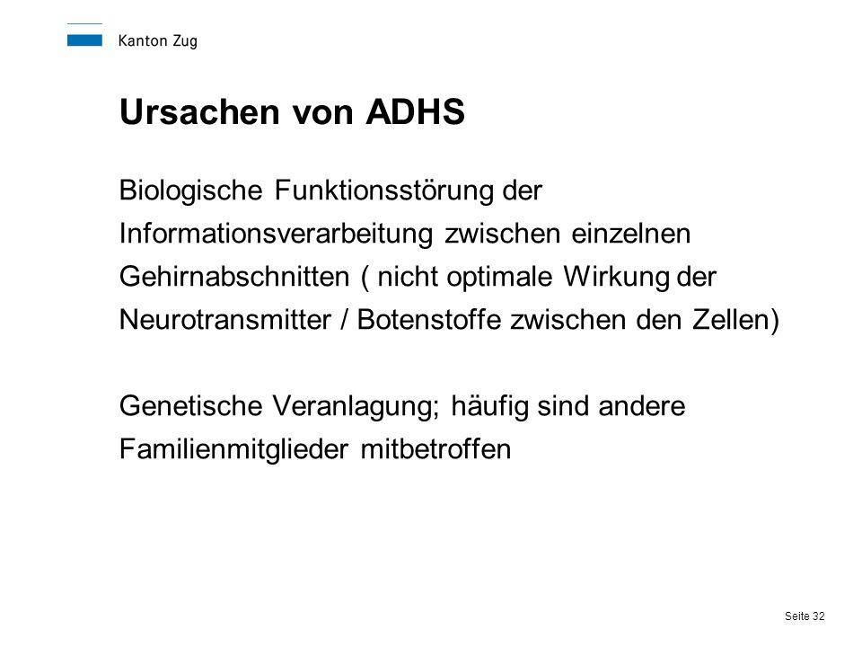 Ursachen von ADHS