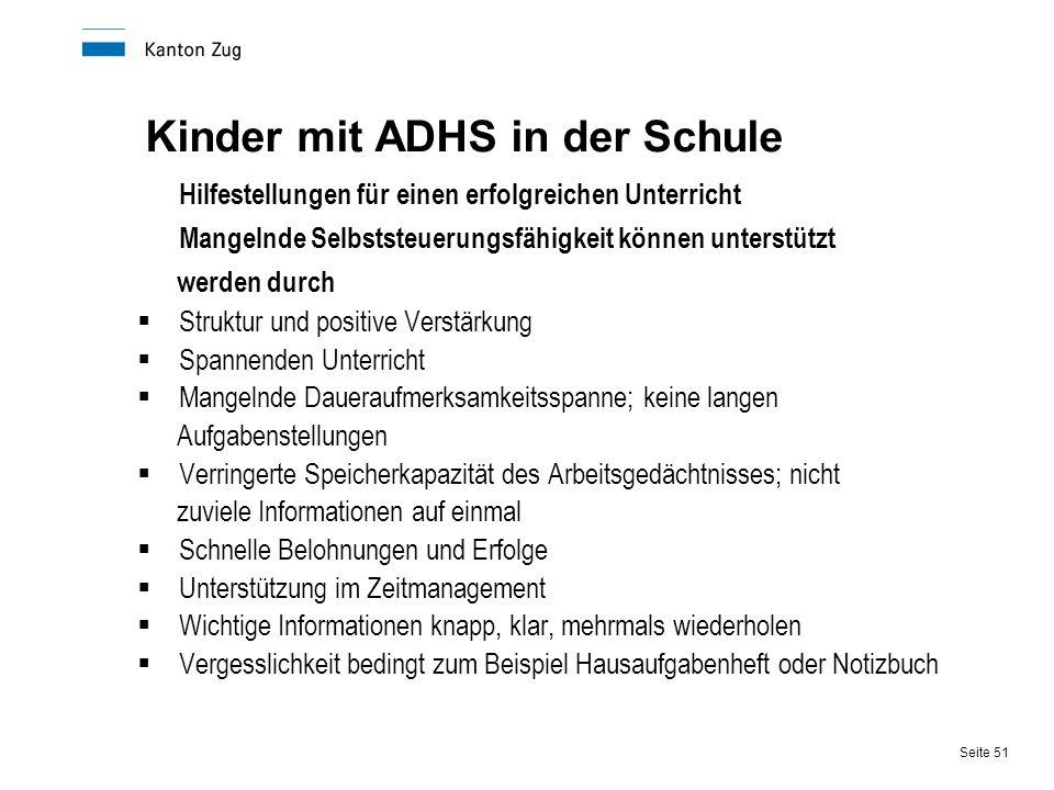 Kinder mit ADHS in der Schule
