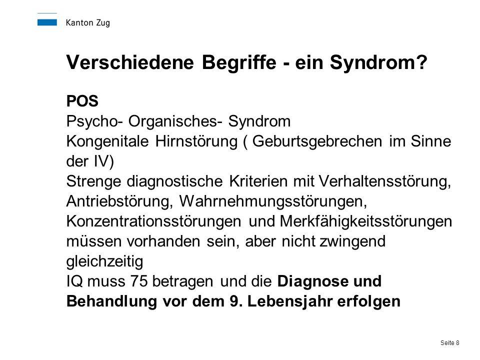 Verschiedene Begriffe - ein Syndrom