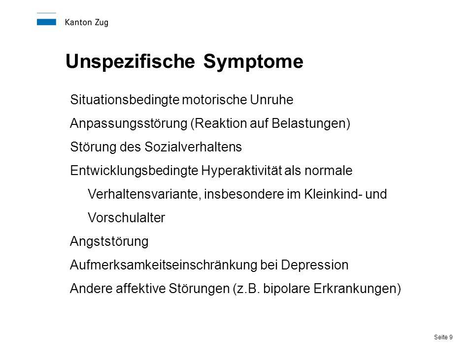 Unspezifische Symptome