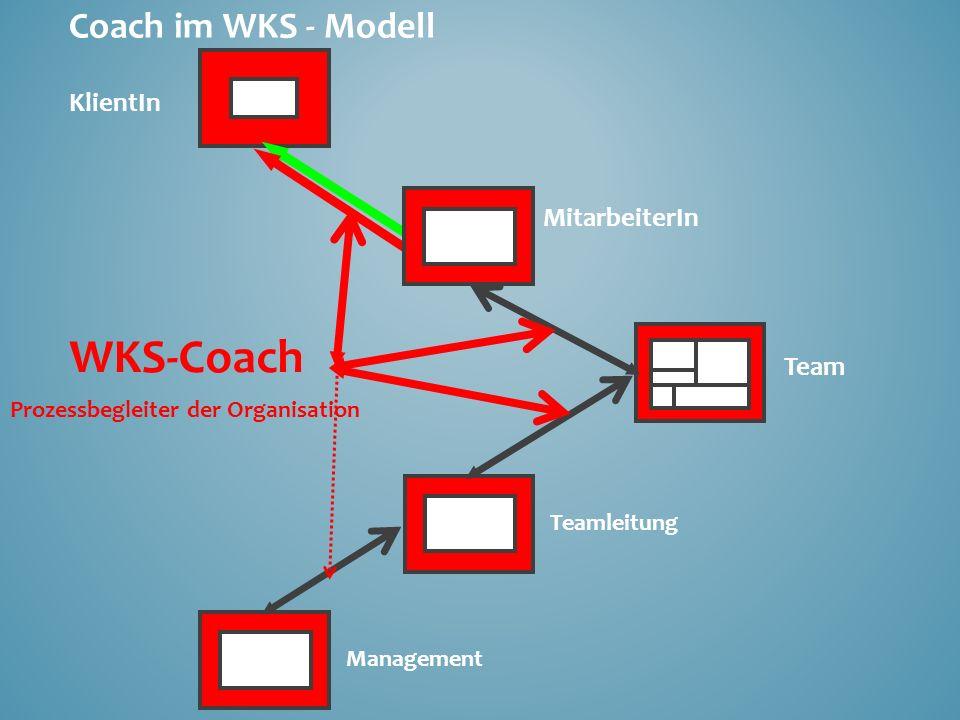 WKS-Coach KlientIn MitarbeiterIn Team Coach im WKS - Modell
