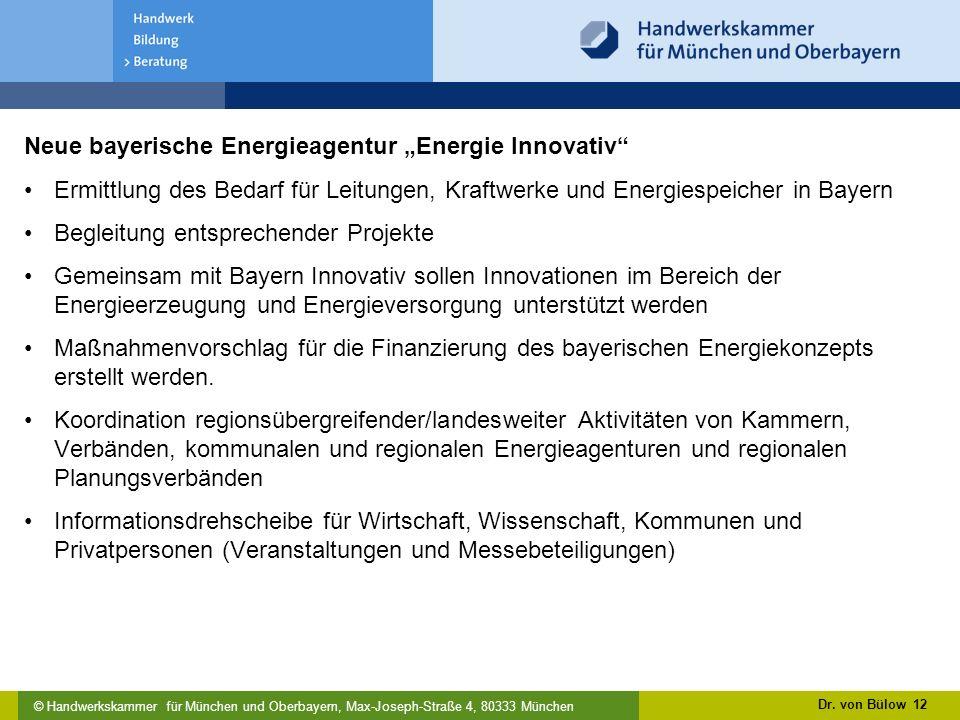 """Neue bayerische Energieagentur """"Energie Innovativ"""