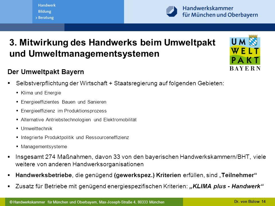 3. Mitwirkung des Handwerks beim Umweltpakt und Umweltmanagementsystemen