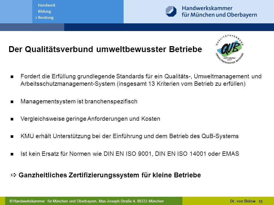 Der Qualitätsverbund umweltbewusster Betriebe