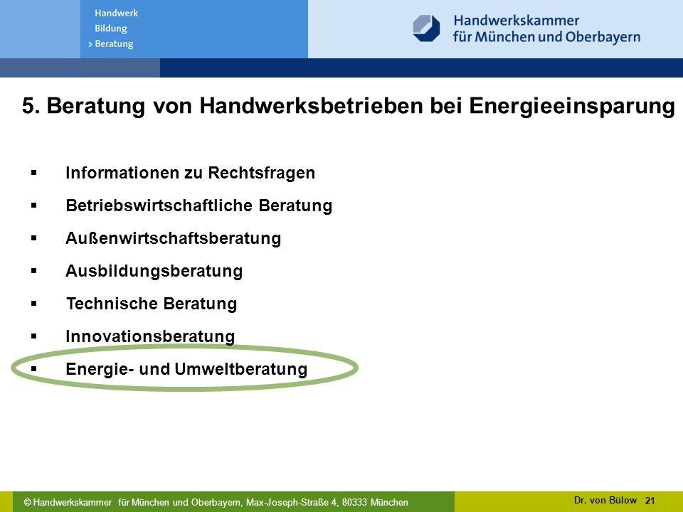 5. Beratung von Handwerksbetrieben bei Energieeinsparung