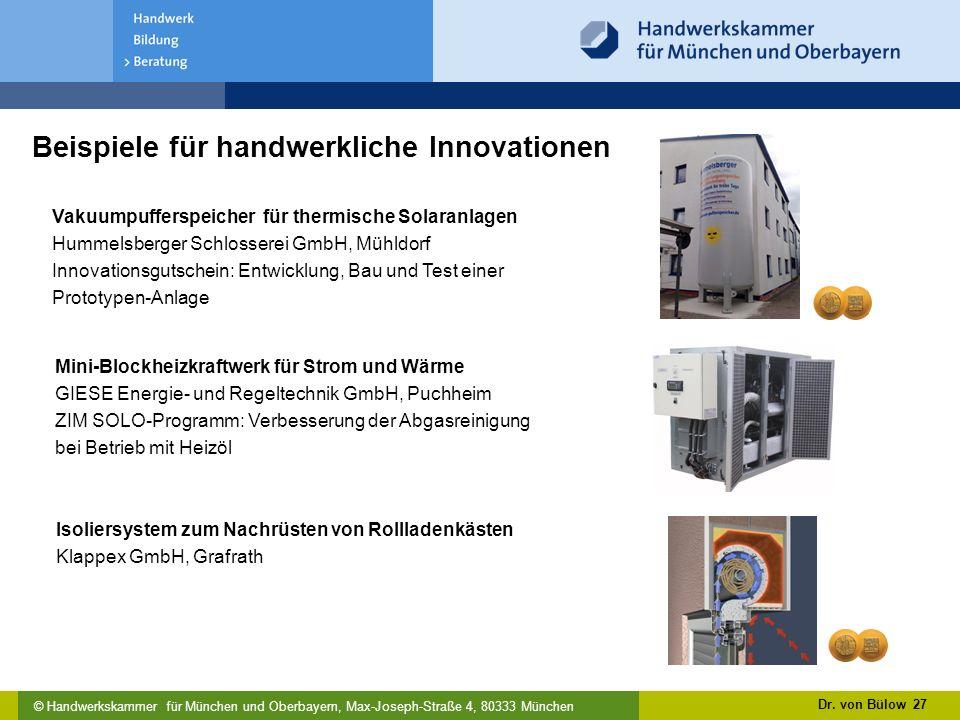 Beispiele für handwerkliche Innovationen