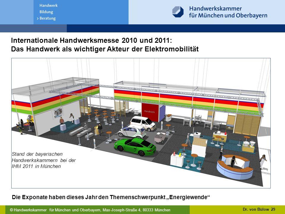 Internationale Handwerksmesse 2010 und 2011: Das Handwerk als wichtiger Akteur der Elektromobilität