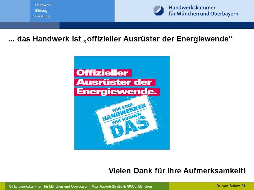 """... das Handwerk ist """"offizieller Ausrüster der Energiewende"""