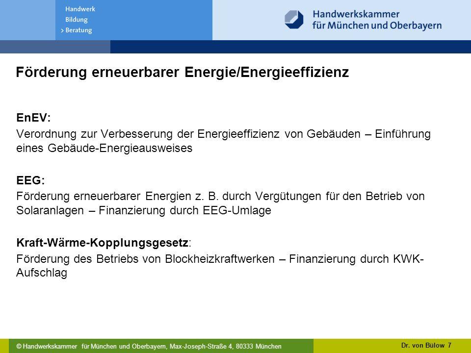 Förderung erneuerbarer Energie/Energieeffizienz