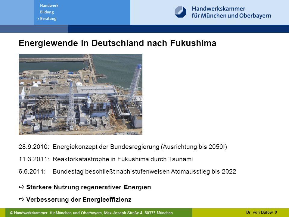 Energiewende in Deutschland nach Fukushima