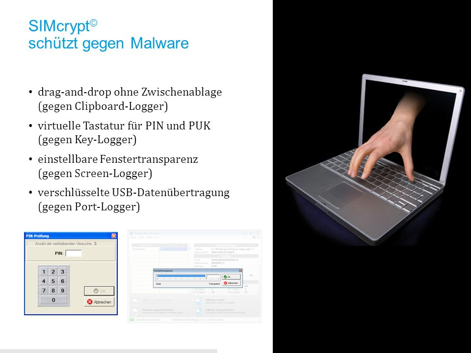SIMcrypt© schützt gegen Malware