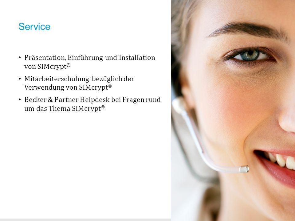 Service Präsentation, Einführung und Installation von SIMcrypt©