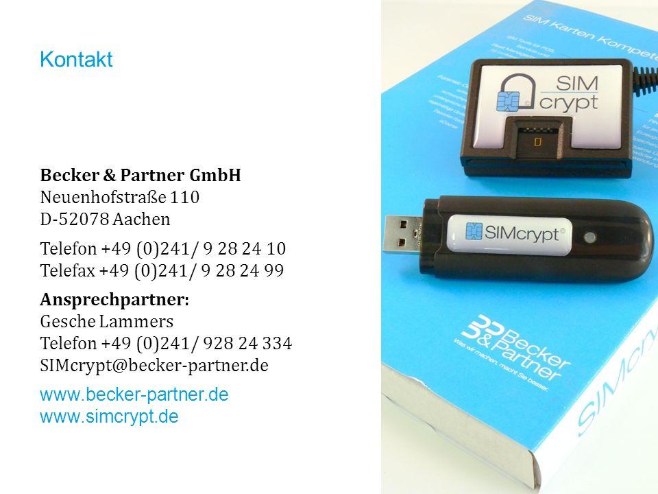 Kontakt Becker & Partner GmbH Neuenhofstraße 110 D-52078 Aachen
