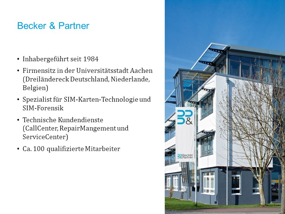 Becker & Partner Inhabergeführt seit 1984