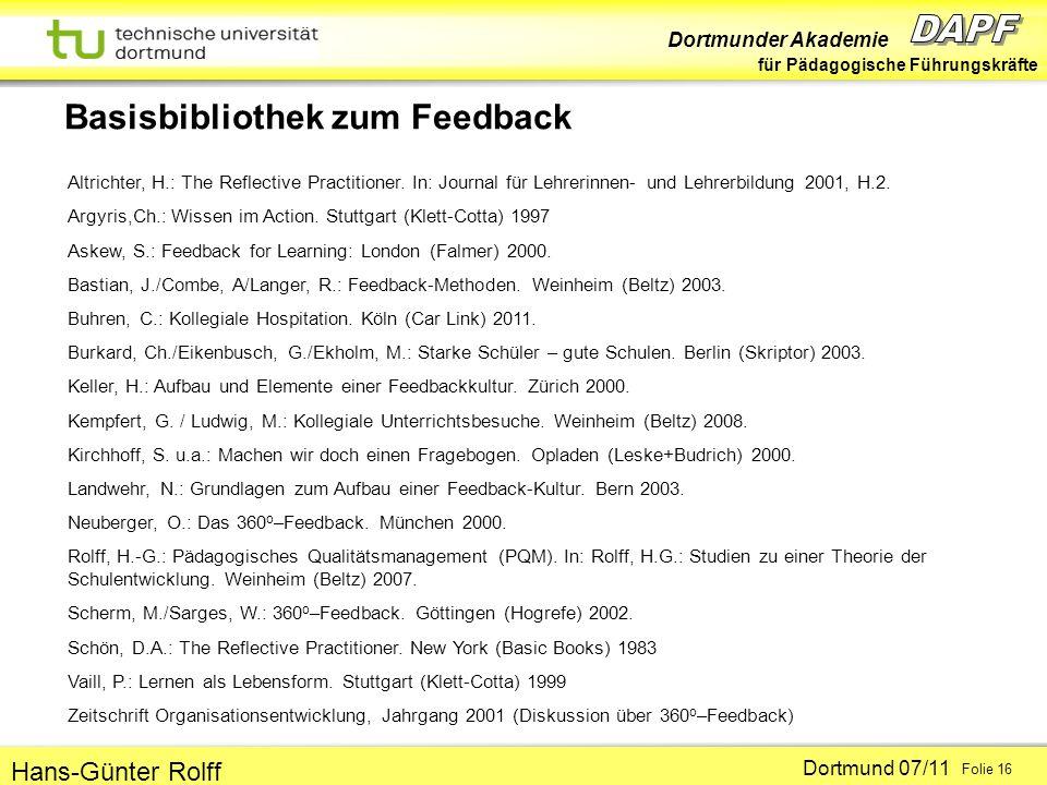 Basisbibliothek zum Feedback